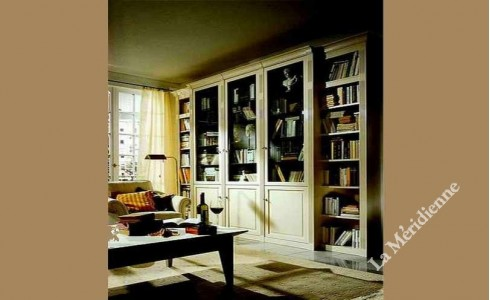 meuble biblioth que classique patin 4 la meridienne d coration. Black Bedroom Furniture Sets. Home Design Ideas