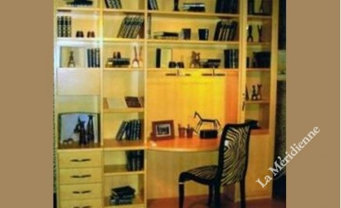 meuble biblioth que modulaire avec bureau int gr la. Black Bedroom Furniture Sets. Home Design Ideas