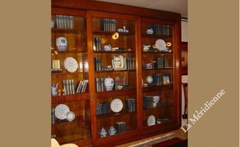 Meuble bibliothèque vitré