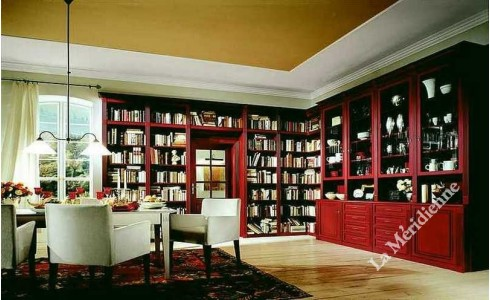 meuble biblioth que classique patin 3 la meridienne. Black Bedroom Furniture Sets. Home Design Ideas