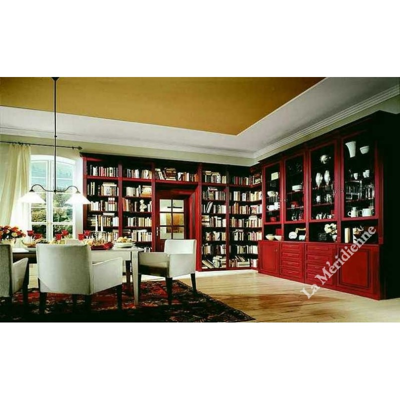 meuble biblioth que classique patin 3 la meridienne d coration. Black Bedroom Furniture Sets. Home Design Ideas
