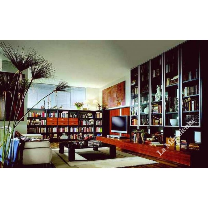 meuble biblioth que multim dia modulaire 5 la meridienne. Black Bedroom Furniture Sets. Home Design Ideas