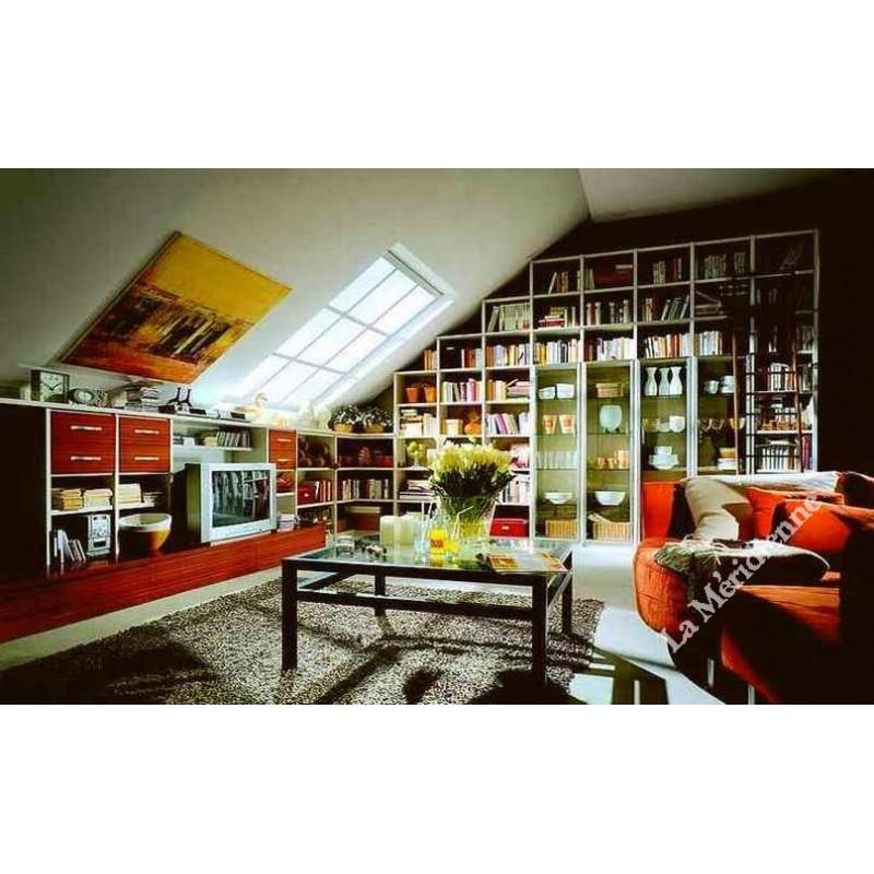 meuble biblioth que sous toit en pente la meridienne. Black Bedroom Furniture Sets. Home Design Ideas