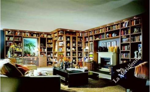 meuble biblioth que avec angle et clairage la. Black Bedroom Furniture Sets. Home Design Ideas