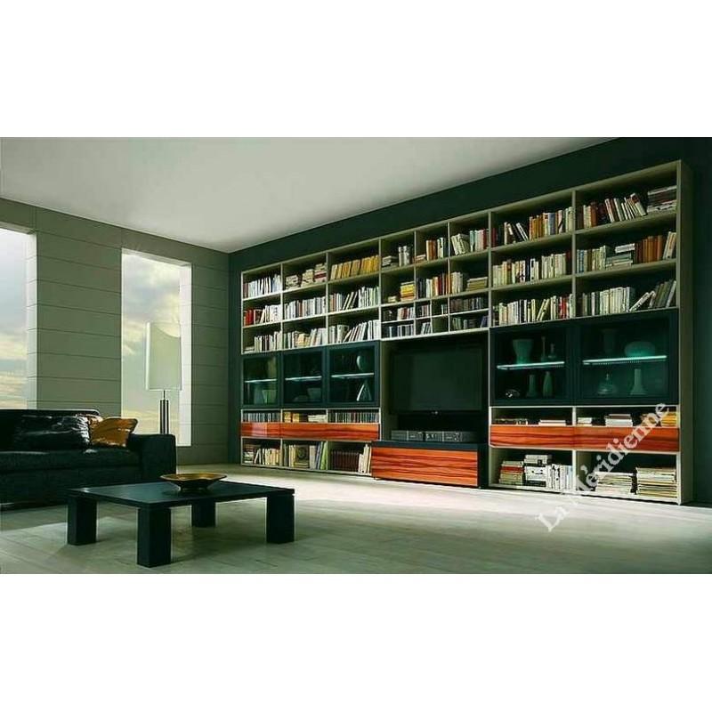 Meuble biblioth que modulaire 3 la meridienne d coration for Meuble bibliotheque modulaire
